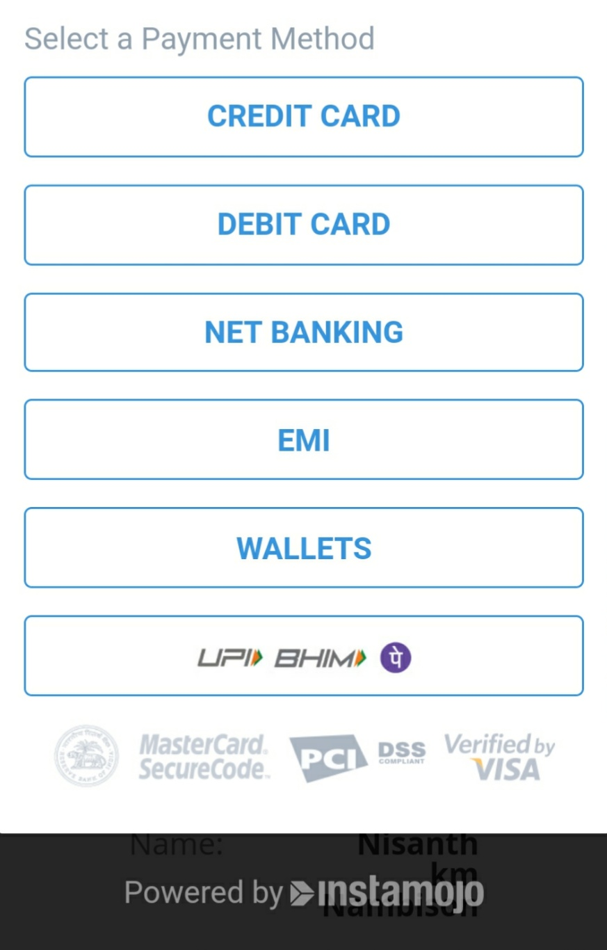 nambison payment options